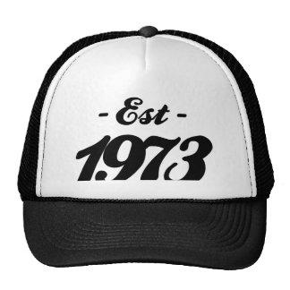 establecido 1973 - cumpleaños gorro