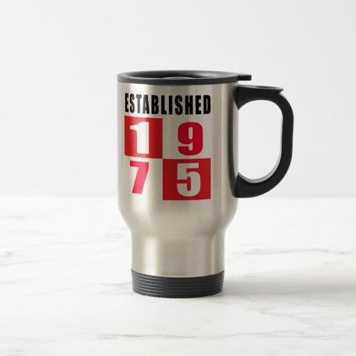 Establecido 1975 diseños del cumpleaños tazas de café