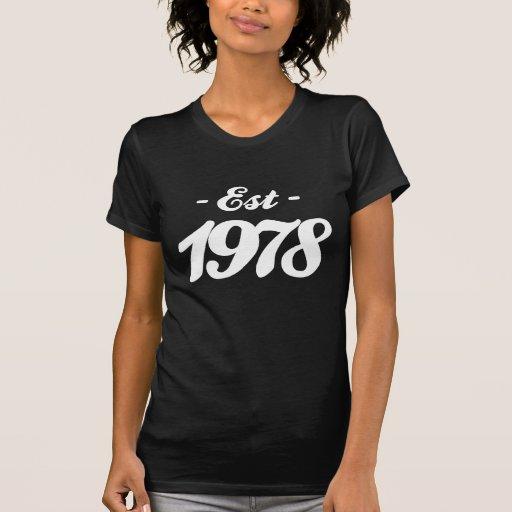 establecido 1978 - cumpleaños playera