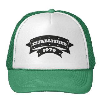 Establecido 1979 casquillos de los gorras
