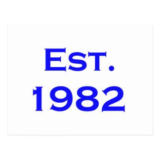 establecido 1982 postal
