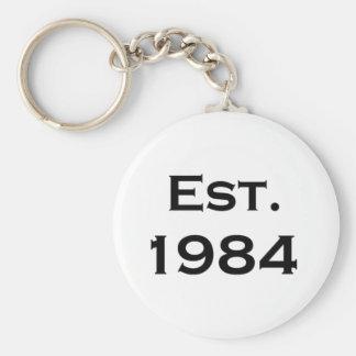 establecido 1984 llavero redondo tipo pin