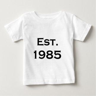 establecido 1985 playera de bebé
