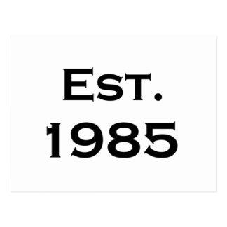 establecido 1985 postal