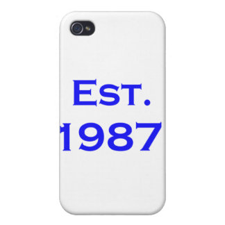 establecido 1987 iPhone 4/4S carcasas