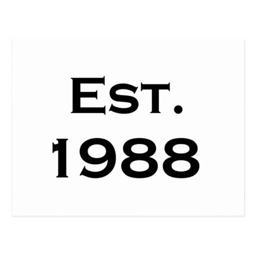 establecido 1988 postal