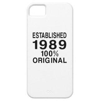 Establecido 1989 iPhone 5 fundas