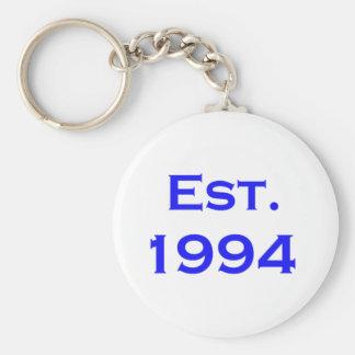 establecido 1994 llavero redondo tipo pin
