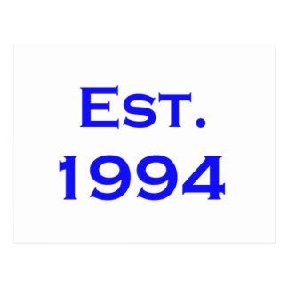 establecido 1994 postales