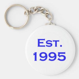 establecido 1995 llavero redondo tipo pin
