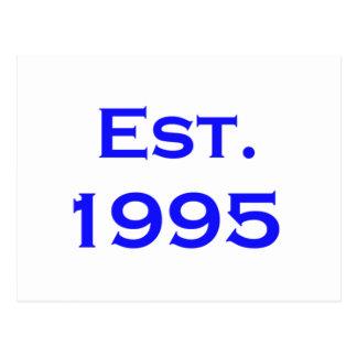 establecido 1995 tarjeta postal