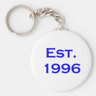 establecido 1996 llavero redondo tipo pin