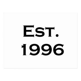 establecido 1996 tarjetas postales