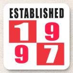 Establecido 1997 diseños del cumpleaños posavasos