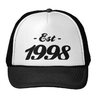 establecido 1998 - cumpleaños gorras de camionero