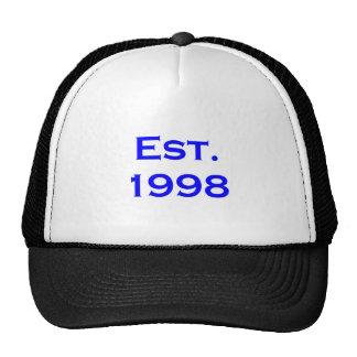 establecido 1998 gorros