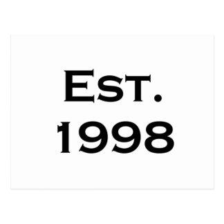 establecido 1998 tarjetas postales