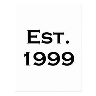 establecido 1999 tarjeta postal
