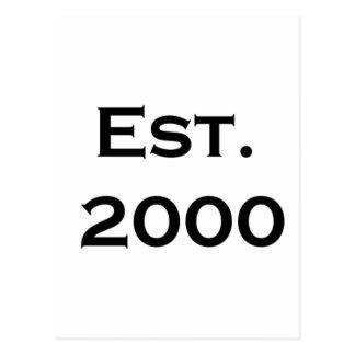 establecido 2000 tarjetas postales