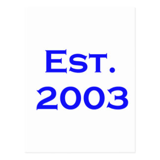 establecido 2003 tarjetas postales