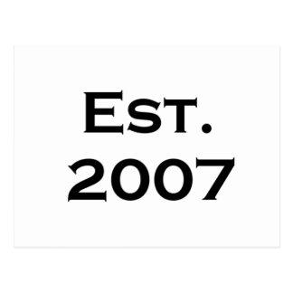 establecido 2007 postal
