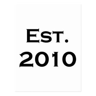 establecido 2010 postales