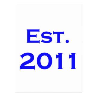 establecido 2011 tarjetas postales