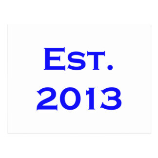 establecido 2013 tarjeta postal