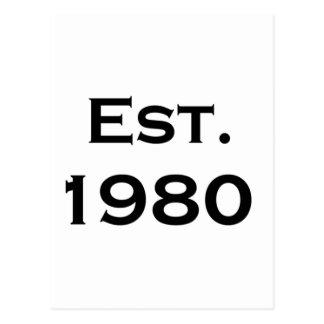 establecido el an o 80 postal