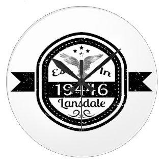 Establecido en 19446 Lansdale Reloj Redondo Grande