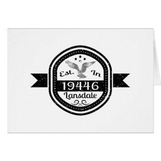 Establecido en 19446 Lansdale Tarjeta De Felicitación