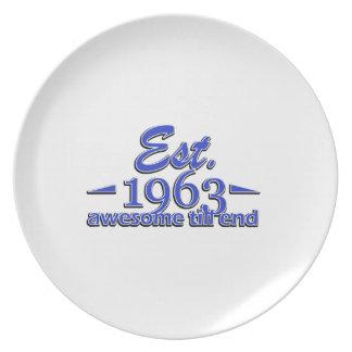 Establecido en 1963 platos para fiestas