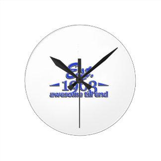 Establecido en 1963 reloj redondo mediano