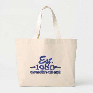 Establecido en 1980 bolsa tela grande