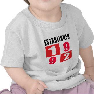 Establecido en 1992 camisetas