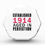 Establecido envejecido en 1914 en la perfección