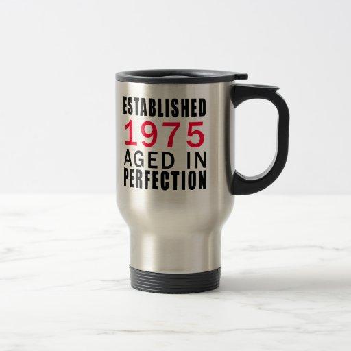 Establecido envejecido en 1975 en la perfección tazas