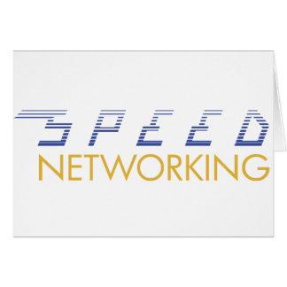 Establecimiento de una red de la velocidad tarjeta de felicitación