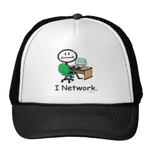 Establecimiento de una red del ordenador gorras de camionero