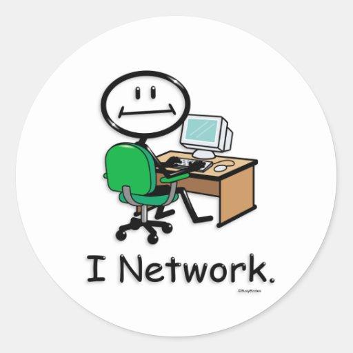 Establecimiento de una red del ordenador etiquetas