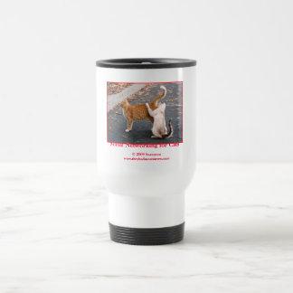 Establecimiento de una red social para los gatos taza de café