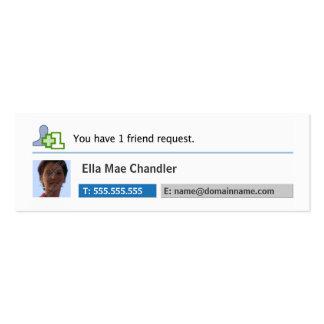 Establecimiento de una red social - tarjeta de vis tarjetas de visita mini