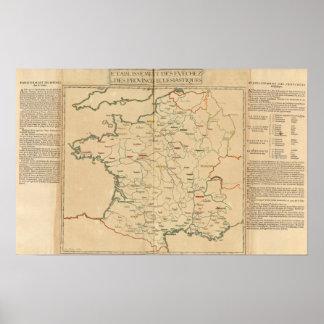 Establecimientos franceses póster