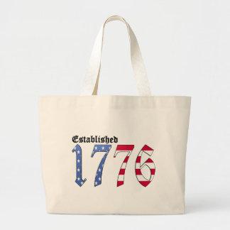 Established 1776 canvas bags