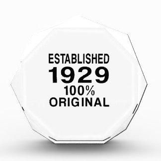 Established 1929 award