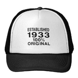 Established 1933 trucker hat