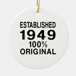 Established 1949 ceramic ornament