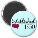 Established 1950 2 inch round magnet