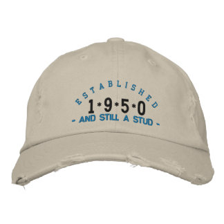 Established 1950 Stud Embroidery Hat