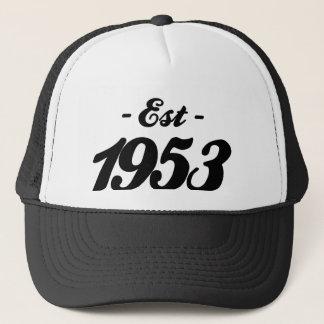 established 1953 - birthday trucker hat